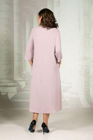 Платье Платье Avanti Erika 1145 пудра  Состав: Вискоза-72%; ПЭ-25%; Спандекс-3%; Сезон: Осень-Зима Рост: 164  Нарядное платье свободного кроя. Ткань костюмно-плательная, немного тянется, не мнется. Н