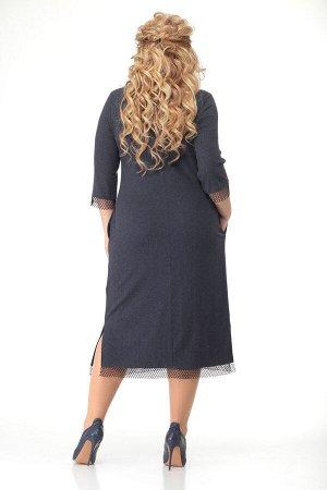 Платье Платье Bonna Image 474  Состав: Вискоза-64%; ПЭ-32%; Спандекс-4%; Сезон: Весна Рост: 164  Комфортное женское платье выполнено из трикотажного полотна ворсинка. Платье полуприлегающего силуэта.
