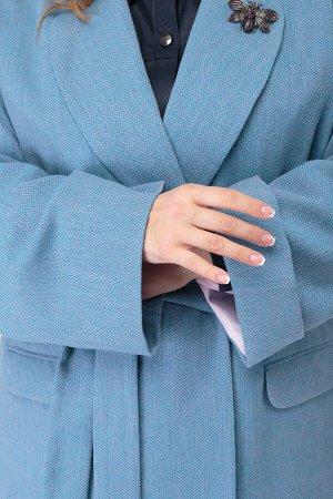 Пальто Пальто ANELLI 914 голубые тона  Состав: Шерсть-28%; ПАН-63%; Лён-9%; Сезон: Осень-Зима Рост: 164  Наряду с элегантными вариациями моделей своё место в списке популярных трендов верхней одежды