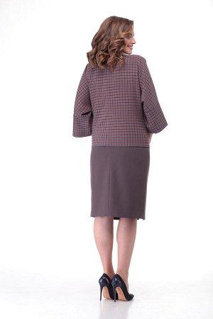 Костюм Костюм Bonna Image 538  Состав: Вискоза-62%; ПЭ-34%; Спандекс-4%; Сезон: Осень-Зима Рост: 164  Стильный женский костюм состоит из блузона и юбки. Костюм выполнен из комфортной костюмной ткани.