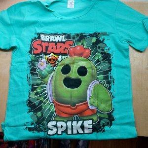 Подростковая футболка Brawl Stars Spike 1104 бирюза
