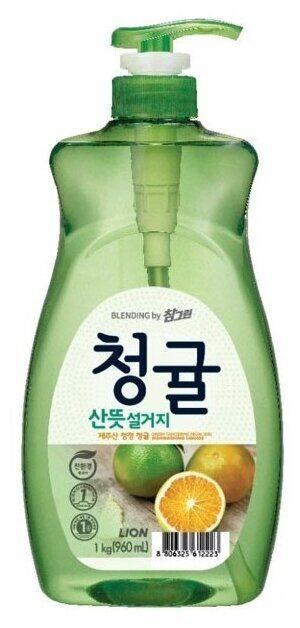 Ср-во д/посуды LION Korea CHAMGREEN 965мл Зеленый цитрус (флакон)