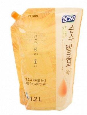 Ср-во д/посуды LION Korea CHAMGREEN Pure Fermentation 1200мл 5 злаков (мягк.уп)
