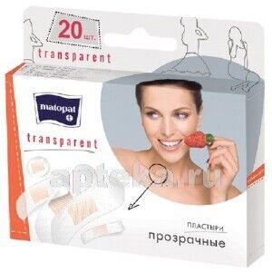 Пластырь Matopat Transparent в наборе 20 шт.