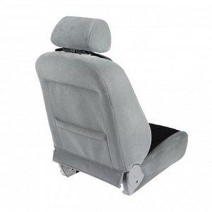Накидка на переднее сиденье, велюр, размер 35 х 130 см, черный