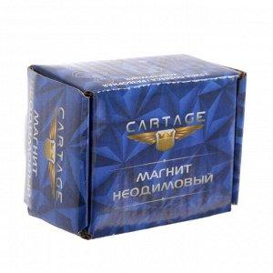 Магнит неодимовый Cartage с крючком для авто, d:20 мм. сцепление 11 кг