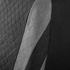 Авточехлы TORSO Premium универсальные, 6 предметов, чёрно-серый AV-12