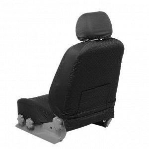 Авточехлы TORSO Premium универсальные, 9 предметов, чёрно-синий AV-6