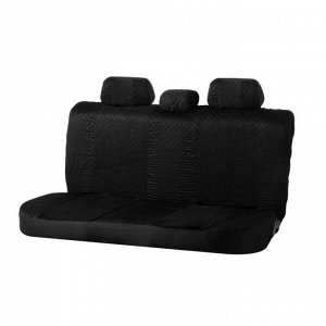 Авточехлы TORSO Premium универсальные, 9 предметов, чёрно-синий AV-15