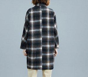 Пальто Ткань: полиэстер, хлопок грудь 134 см, длина 96 см, рукав 65 см, бедра 96 см