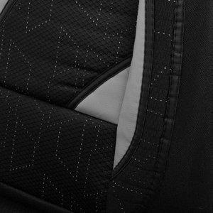 Авточехлы Cartage универсальные, 11 предметов, чёрно-серый
