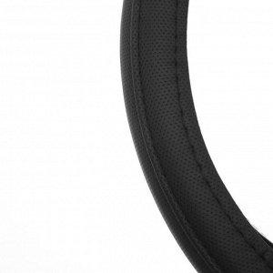 Оплётка TORSO, кожа PU, перфорация, размер 38 см, черный