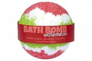 Бурлящий шар с увл.маслом Watermelon (арбуз)