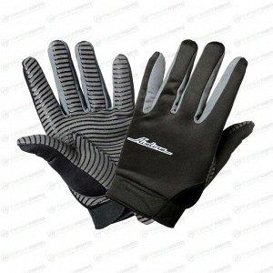 Перчатки механика AIRLINE защитные от механических повреждений, с противоскользящим покрытием ладони, размер XL, цвет черный / серый