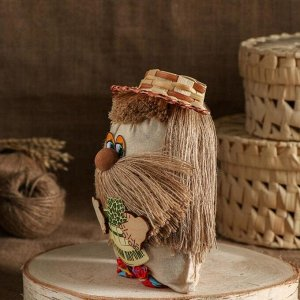 """Оберег """"Банник"""" в соломенной шляпке, с пожеланием"""