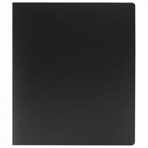 Папка на 2 кольцах STAFF, 40 мм, черная, до 300 листов, 0,5 мм, 225721