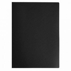 Папка на 4 кольцах STAFF, 30 мм, черная, до 250 листов, 0,5 мм, 229219