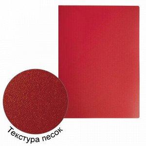 Папка на 4 кольцах STAFF, 30 мм, красная, до 250 листов, 0,5 мм, 229246