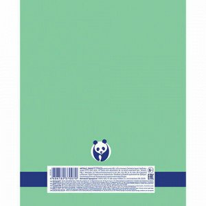 """Тетрадь А5 48 л. HATBER Premium скоба, линия, обложка картон, бумага 80 г/м2, """"Панда"""", 48Т5A2_23630"""
