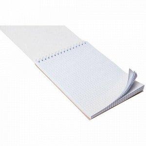 Блокнот А5 (146х205 мм) 60 л., гребень, лакированный, подложка, в точку, HATBER Premium, Мозаика, B331859, 60Б5A9гр