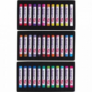 Пастель сухая художественная BRAUBERG ART CLASSIC, 36 цветов, круглое сечение, 181455