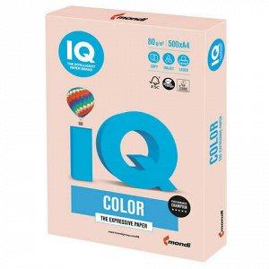 Бумага цветная IQ color, А4, 80 г/м2, 500 л., пастель, темно-кремовая, SA24