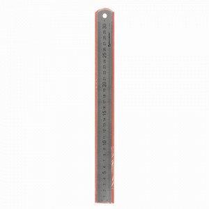Линейка металлическая 30 см, BRAUBERG, европодвес, 210381