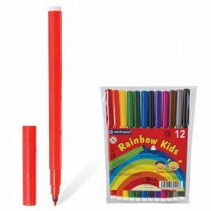 """Фломастеры 12 ЦВЕТОВ CENTROPEN """"Rainbow Kids"""", круглые, смываемые, вентилируемый колпачок, 7550/12ET, 7 7550 1202"""