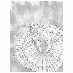 "Холст на картоне с контуром BRAUBERG ART CLASSIC ""МУЗА"", 30х40см, грунтованный, хлопок, 191547"
