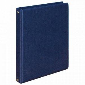 Тетрадь на кольцах А5 (180х220 мм), 80 л., обложка ПВХ, клетка, BRAUBERG, синий, 403913