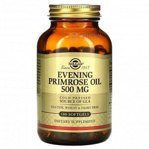 Solgar, масло первоцвета вечернего, 500 мг, 180 мягких таблеток