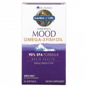 Minami Nutrition, Суперкритикал Муд, рыбий жир Омега-3, 500 мг, 60 капсул