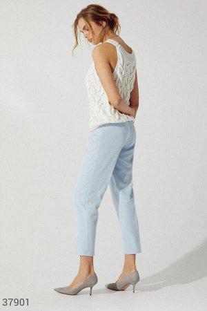 Свободные брюки небесного оттенка