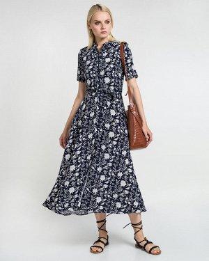Платье жен. (001651) темно-сине-белый