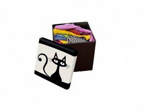 """Пуфик с ящиком для хранения """"Кот"""" 30х30х30см 8467"""