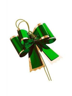 Набор декоративных бантов 2шт. 13х10см цв.зеленый 83231
