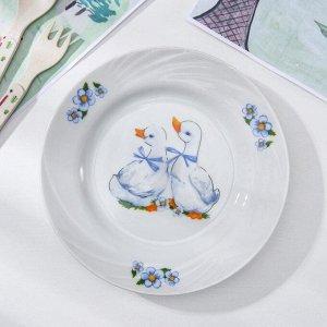 Тарелка 17,5 см мелкая «Гусята»