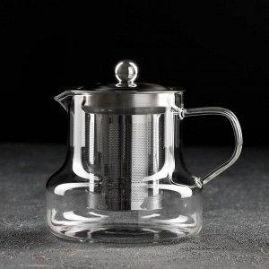 Чайник заварочный «Бингли», 600 мл, 12,5?11?13 см, с металлическим ситом