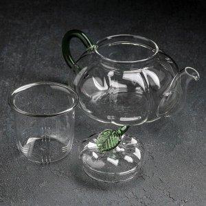 Чайник заварочный «Грин», 700 мл, со стеклянным ситом