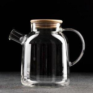 Чайник заварочный «Эко», с металлическим ситом, 1,7 л