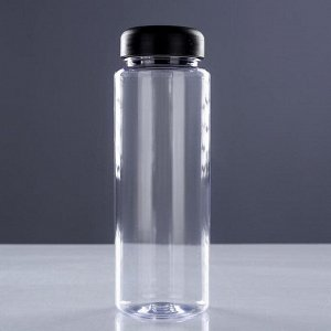 Бутылка для воды 500 мл, микс, 6х19 см
