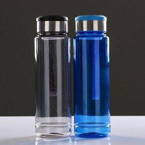 Бутылка для воды, 1000 мл, микс, 7.5х25.5 см