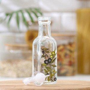 Бутыль для соусов и масла Доляна «Олива», 200 мл, 19 см