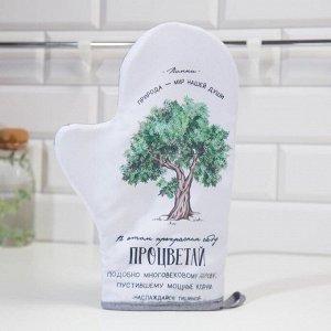 "Варежка-прихватка ""Доляна"" Дерево 24х32см,габардин,35% х/л, 65% п/э, ватин 250г/м2"