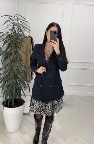 Костюм Стильный костюм, легкое весеннее платье и удлиненный пиджак