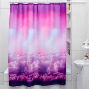 Штора для ванной комнаты «Небо», 180?180 см, полиэстер