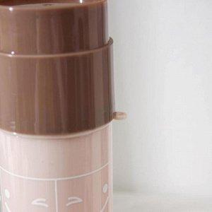 Футляр для зубной щётки и пасты «Смайл», 19,5 см, цвет МИКС