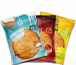 FitKit протеиновое печенье, 40 гр (не содержит сахара)