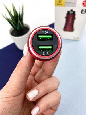 """Baseus Gentleman 3.1 A Dual-USB Car Charger """"красный"""""""