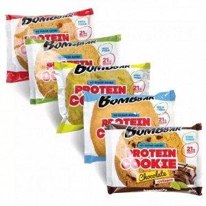 Протеиновое печенье Bombbar, 60 грамм (не содержит сахара)